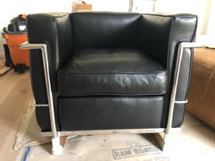 Interior Icons Corbusier Chair - Corbusier Style Lounge Chair, Black Premium Leather Review