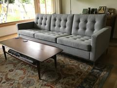 Interior Icons Knoll Sofa - Florence Knoll Style Three Seater Sofa, Light Gray Review