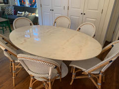 Interior Icons Tulip Table - Oval Tulip Dining Table, Carrara Marble Review
