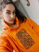 PLANT FACED CLOTHING Illusions Hoodie - Stop Eating Animals - Alarm Orange Review