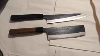 JapaneseChefsKnife.Com Fu-Rin-Ka-Zan Aogami Super Kurouchi Series FAB-5W Nakiri 160mm (6.2 inch, Octagon Shaped Walnut Wood Handle) Review