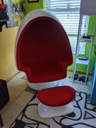 Modholic Alpha Egg Chair & Ottoman, Red Review