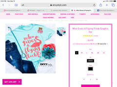 Envy Stylz Boutique Who Gives A Flying Flock Graphic Tee Review