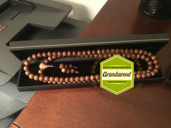 Grandawood- Agarwood Australia *New* Dusky Red 108 Mala- made  from Ambon Island Wild Agarwood 15g 8mm Review