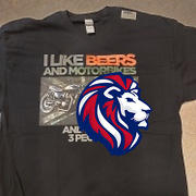 Lion Legion I Like Beers & Motorbikes Unisex T Shirt Review