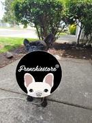 طوق الكلب الانفصالي frenchiestore frenchiestore | استعراض Frenchie Love باللون الوردي
