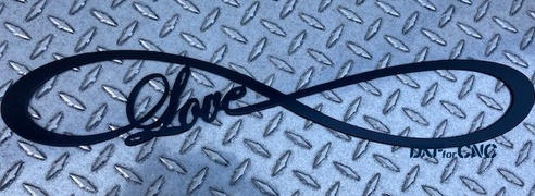 DXFforCNC.com Infinity Love Symbol Free DXF file Review
