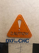 DXFforCNC.com CAUTION Sign Triangle Free DXF file Review