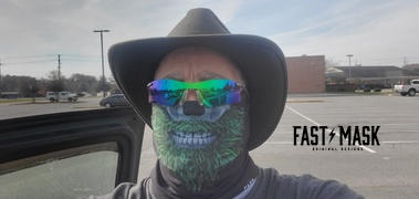 Fast Mask Green Beard Skull Face Mask - * Now With Sewn Edges* Review