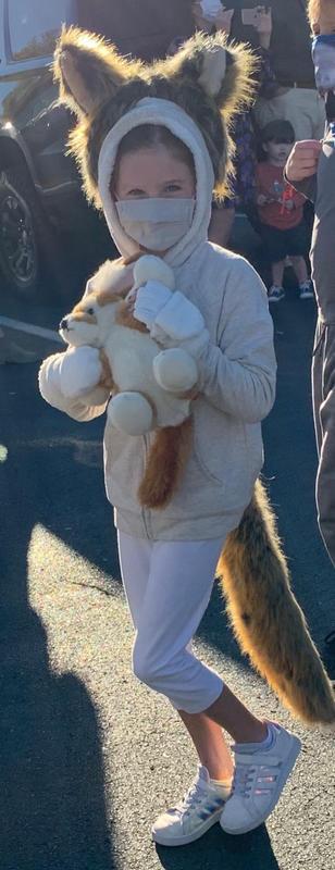 Wildlife Tree Fennec Fox Tail Clip-On Fennec Fox Costume Cosplay Pretend Play
