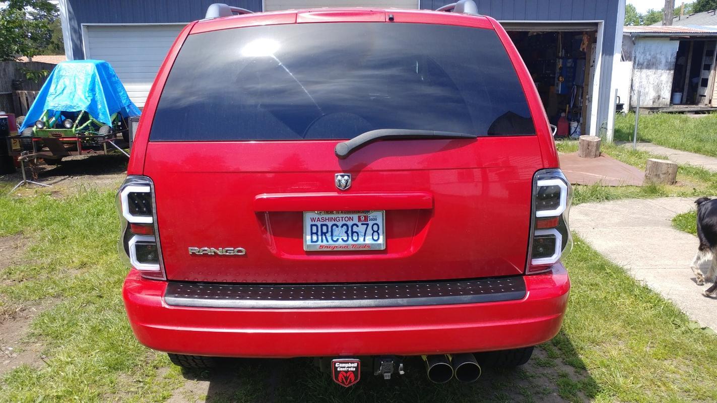 Spyder Tail Lights Dodge Durango Led 2004 2009 Black Smoke Chr Redline360
