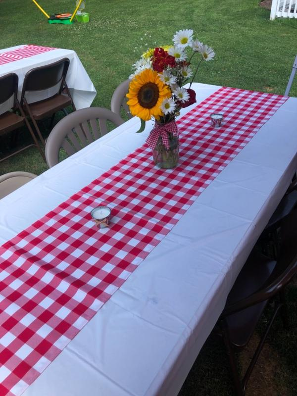 Buffalo Plaid Table Runner Red White Gingham Polyester Checkered Table Runner Tableclothsfactory