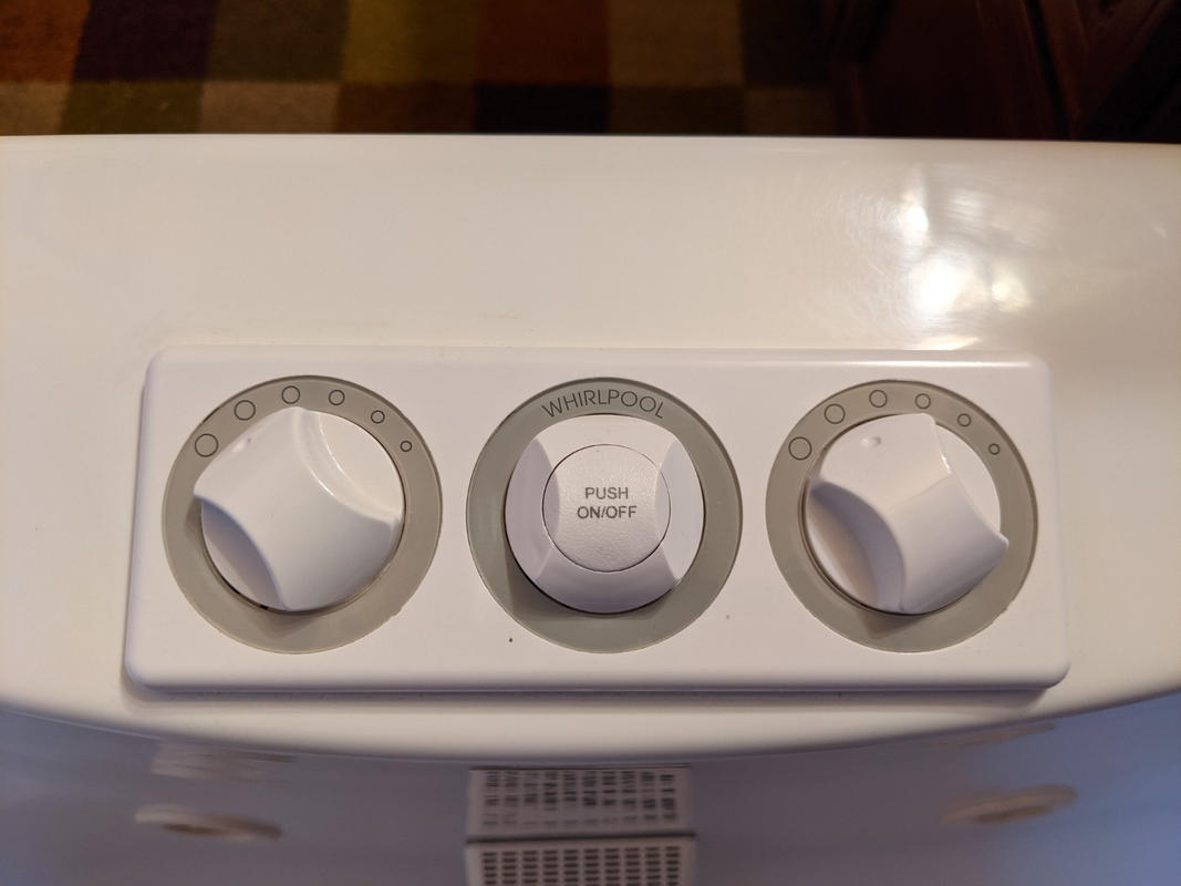 Jacuzzi Whirlpool Bath White Complete - G107940 Air Control /& On//Off Panel