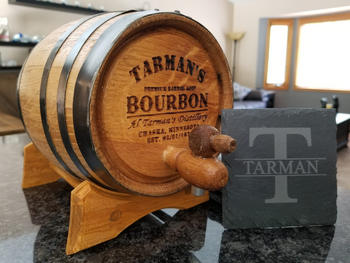 Freedom Oak Barrels *NEW* Personalized Slate Coasters - Launch Sale Review