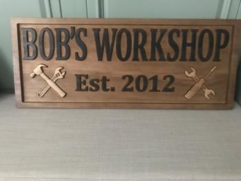 3D Woodworker Custom Workshop Sign with Tools Review