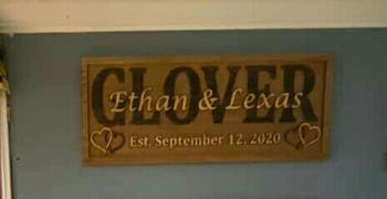 3D Woodworker Custom Wood Sign with 2-Toned Hearts Review