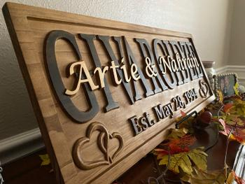 3D Woodworker Personalized Family Name Sign Hearts Review