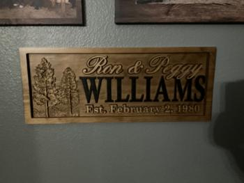 3D Woodworker Custom Last Name Sign with Trees Review