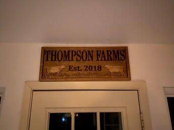 3D Woodworker Custom Sign with Cattle Review