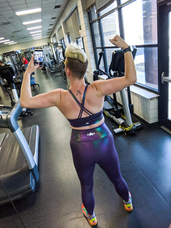 WodBottom Amethyst Shiny Sports Bra Review
