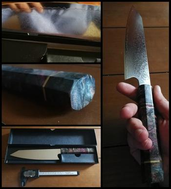 Vertoku Damascus Steel 8'' Chef Knife with Colored Handle Review