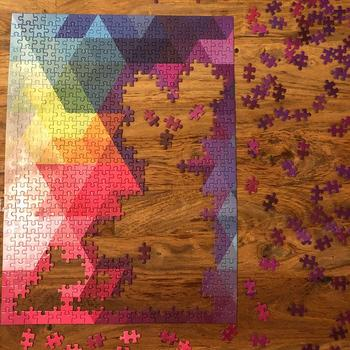 Puzzledly Geometrical Rainbow | 500 Piece Jigsaw Puzzle Review