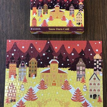Puzzledly Snow Darn Cold | 500 Piece Jigsaw Puzzle Review