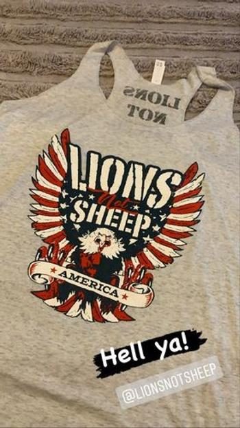 Lions Not Sheep FREEDOM EAGLE Womens Tank Review