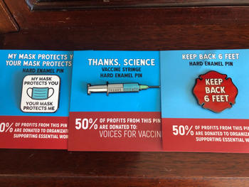 Dissent Pins Thanks, Science - Vaccine Pin Review