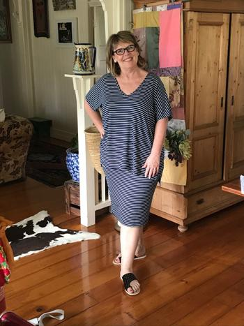 Harlow The Essential Skirt - Navy Stripe Review