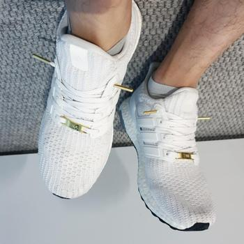 LaceSpace Laces White Waxed Flat Lace - Gold Metal Aglet Review