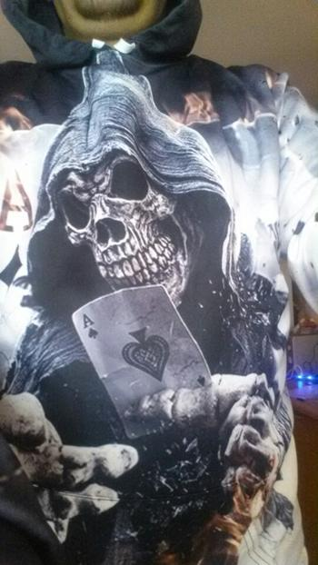 Galaxy Teez The Dark Poker Skull 3D Hoodie Review