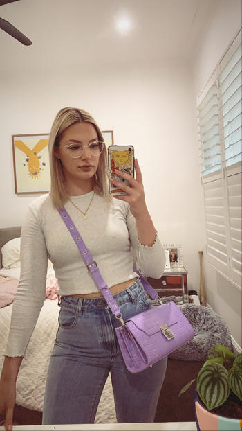 SANS BEAST Lilac Lobby Crossbody Bag Review