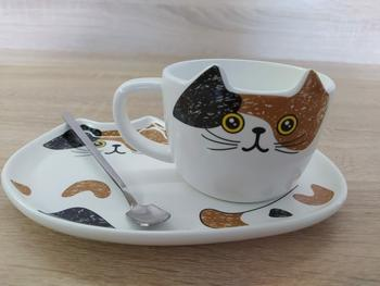 TrendyVibes.CO Ceramic Cat Coffee Mug and Cookie Plate Set Review