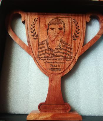 Woodgeek store Customise Your Own Wooden Trophy Cup Review