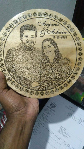 Woodgeek store Our Wedding Day Personalized Engraved Wooden Frame Review