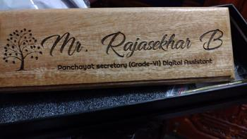 Woodgeek store Wooden Custom Nameplate for Teachers Review