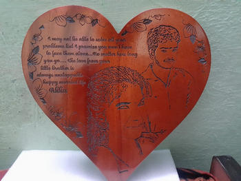Woodgeek store Customize Your Own Heart-Shaped Wooden Poster Review