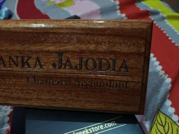 Woodgeek store Personalized Wooden Nameplate for Chartered Accountants Review