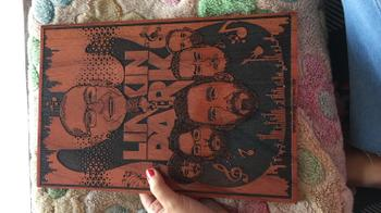 Woodgeek store Linkin Park Carved Wooden Poster Review