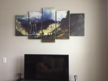 Panel Wall Art AT-AT Walker The Star Wars Scene | 5 Panel Wall Art Canvas Prints Review