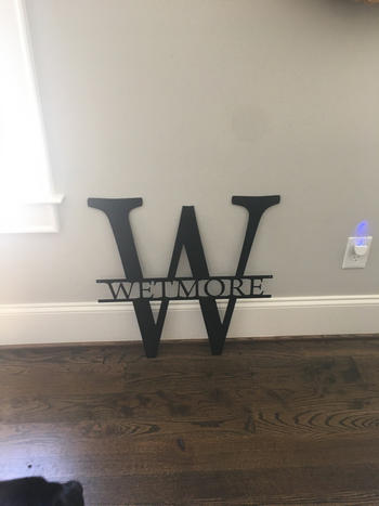 Bluewater Decor Simple Split Letter Monogram Review