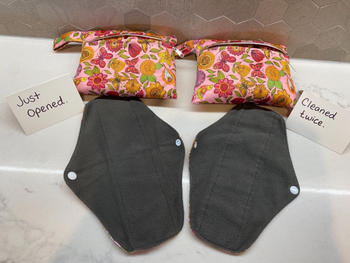 B Free Australia Reusable Stay-Dry Leakage & Period Pads - Pink Floral 5 Pack Review