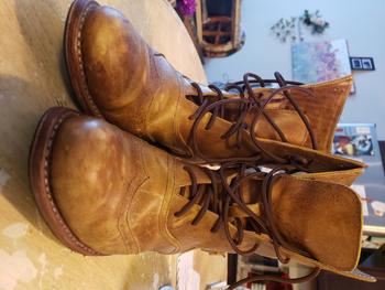 Atitlan Leather Light Brown Victorian Ankle Boots Review