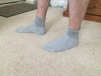 DIABETIC SOCK CLUB Men's Cotton Diabetic Ankle Socks (6 Pair) Review
