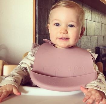 We Might Be Tiny Catchie Bibs™ - Plum + Lilac Review