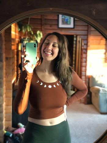Purusha People Redwood Moon Forest Fiber Long Sleeve Crop Top Review