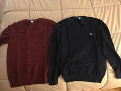Blade + Blue Navy Blue Cotton V-Neck Sweater Review
