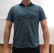 Blade + Blue Teal Green Spiky Diamond Mosaic Print Short Sleeve Shirt - SPIKE Sizes M & L Available Review