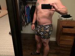 Blade + Blue Blue & Khaki Wildflowers Print Boxer Short - Barney Review